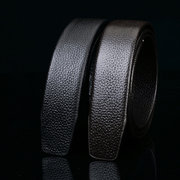 Men's Genuine Leather Belts Double First Layer Cowhide Straps No Belt Buckle