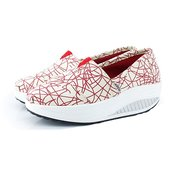 Women Canvas Shake Shoes Wedge Leisure Sport Slip On Shoes