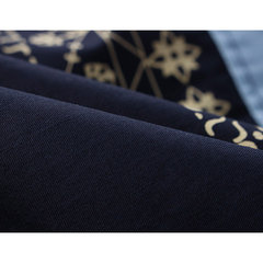 Chinese Style Casual Business Cotton Stitching Printing Long Sleeve Dress Shirts for Men