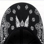 Men Women Hip Hop Baseball Flat Bill Hats Snapback Hip-Hop Adjustable Canvas Cap