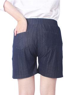 Casual Women Solid High Waist Pocket Shorts For Women