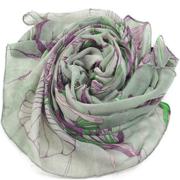Классическая Чернила Ручная роспись бегонии Цветочная Печатный шарф шаль