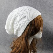 Men Women Crochet Winter Thick Knitted Casual Baggy Slouchy Casual Beanies Hat