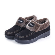 Winter Women Snow Boots Fur Lining Cotton Keep Warm Flat Shoes