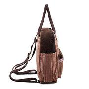 Women Fashion Corduroy Backpack Casual Lovely School Bag