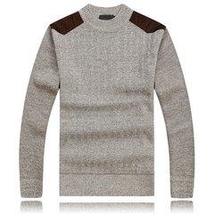 Мужская осень-зима Толстые свитера Вязание Сращивание плеча вскользь пуловер