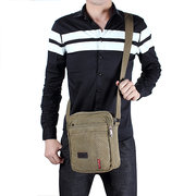 Men Casual Canvas Crossbody Bag Travel Outdoor Shoulder Bag