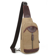 Men Canvas Crossbody Bag Chest Pack Casual Travel Bag