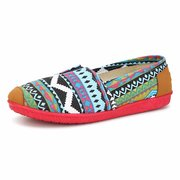 Stripe Colorful Breathable Flat Shoes