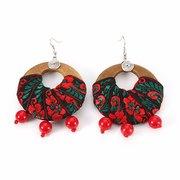 Ethnic Style Jewelry Earrings Handmade Bead Wood Cotton Women Earrings