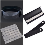 12 Styles Eyebrow Shaping Stencils Grooming Kit Makeup Set Template Tool With Elastic Band