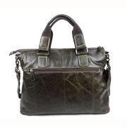Мужчины Урожай из натуральной кожи Повседневная сумка ретро бизнес Crossbody сумка