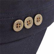Men Women Classic Army Plain Vintage Hat Cadet Military Flat Baseball Cap