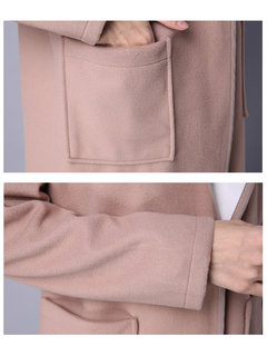 Fashion Elegant Hooded Pure Color Long Sleeve Cotton Coat For Women