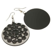 Frosted Multilayer Round Drop Dangle Earrings