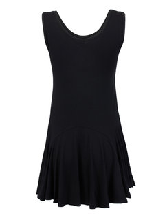 Women Ruffles Slim Casual Black Sleeveless Mini Sundress
