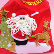 Lint Christmas Decoration Red Creative Storage Bags