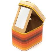 Водонепроницаемый Цвет Изменение косметический инструмент Случай хранения Box держатель Организатор с зеркалом