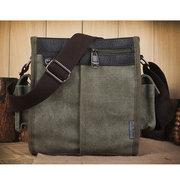 Mens Vintage Business Canvas Shoulder Bag Outdoor Crossbody Bag