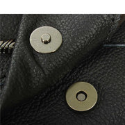 Men Genuine Leather Black Shoulder Bags Casual Business Outdoor Crossbody Bags
