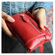 Elegant Genuine Leather Tote Purse 6inch Phone Bag For iPhone Samsung Xiaomi Sony