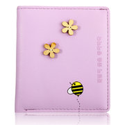 Women Casual Sweet Candy Color Short Wallet Leisure Cash Cards Purse