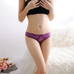 Women Sexy See Through Lace Thongs Floral Hollow Low Waist Panties