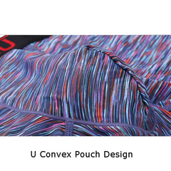Colour Small Stripes Soft Breathable Underwear Ice Silk High Elastic Boxers for Men