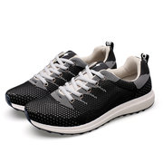 Men Sport Running Lace Up Mesh Breathable Toe Protecting Sneakers