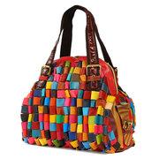 Женщины Стильный Совместное вскользь случайный цвет из натуральной кожи сумки Сумка Crossbody сумка