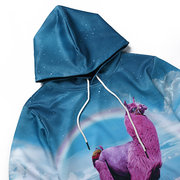 Mens Hoodies Original 3D Rainbow Unicorn Printing Fashion Casual Sport Hooded Tops