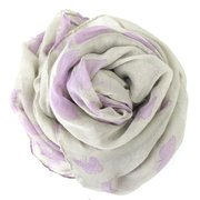 Womens Ladies Butterfly Pattern Print Large Soft Long Scarf Shawl Stole
