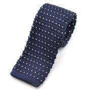 Korean Version Leisure Stripe Plaids Slim Skinny Knitting Neckties Male Narrow Ties