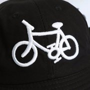Men Women Bicycle Pattern Canvas  Bucket Cap Retro Fisherman Sun Hat
