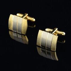Men Matte Tie Clip Suit Cufflinks Business Silver Golden Cufflink Tie Clip