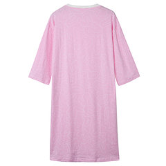 Comfortable Cotton Loose Long Sleeve Nightgown Breathable Casual Nightdress For Women