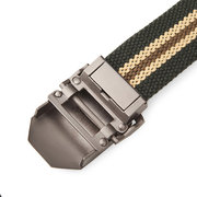 125cm Men Casual Outdoor Canvas Belt Thickening Alloy Buckle Pants Strip
