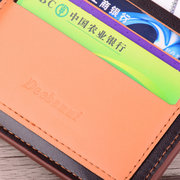 Men PU Leather Wallet Business Casual Card Holder Purse Bag