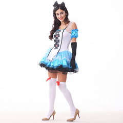 Halloween Sexy Fairytale Cosplay Dress Sets Backless Patchwork Dress For Women