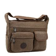 Men Vintage Canvas Crossbody Bag Outdoor Casual Shoulder Bag