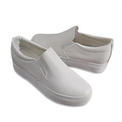 Pure Color Pu Elastic Slip On Sport Casual Flat Loafers