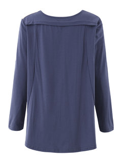 Patchwork Contrast Color Casual Long Sleeve Flare Women Blouse