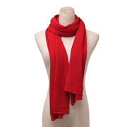 Men Women Long Solid Color Wool Knitted Scarf Multicolor Optional Shawl