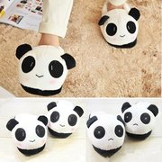Unisex Cute Panda Cotton Sweet Indoor Slippers Flat Home Shoes