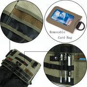 Мужчины Холст Многофункциональный большой емкости Открытый 17.3 дюймовый ноутбук Crossbody сумка сумка