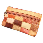 Women Genuine Leather Casual Long Zippet Wallet Leisure Coins Cards Bags Purse