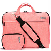 For 14'' MacBook Air/Pro Solid Cotton Fabric NoteBook Sleeve Carry Shoulder Laptop Bag