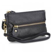 Women Casual Elegant Cowhide PU Leather Small Purse Tote Wallet Key Bags