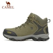 Camel Men Women Lover Anti Skip Lace Up High Top Outdoor Sport Hiking Shoes