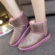 Bling Causal Ankle Warm Snow Boots For Women